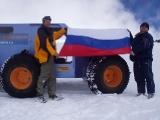 Пневматик вездеход на Эльбрусе. Испытания вездехода на ледниках