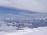 Вездеход на снегу. На вездеходе к Эльбрусу